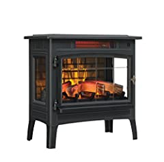 5,200 BTU heater provides supplemental zone heating for up to 1,000 square feet to help you save money Patent pending 3D flame effect technology features realistic flames that dance on and behind the logs, including five adjustable color, brightness,...