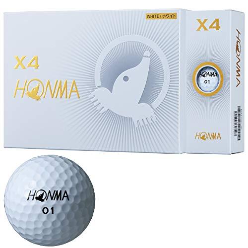 本間ゴルフゴルフボールX4X4BT1906ホワイト