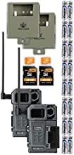 SPYPOINT Link-Micro-LTE Cellular Trail Camera Twin Pack with Two SD Cards, Batteries, and Two Security Steel Cases (Link-Micro-LTE-V)