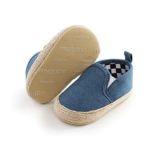 FURONGWANG6777BB Newborn Baby Boys Girls Algodón Sole Sole Soft Slight Slight Schoards First Walker Sneakers Flat Zapatos de Cuna (Baby Age : 0-6 Months, Color : Blue)