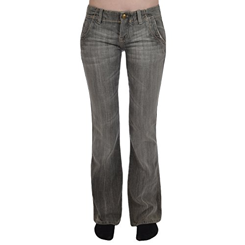 Lerock Womens Flared jeans broek - grijs Denim - 8