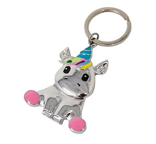 Panelize® Schlüssel-anhänger Einhorn Unicorn Handtaschen Koffer Rucksack Anhänger Keyholder Accessoires Strass besetzt Regenbogen-Farben