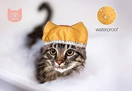 Shower cap for cat, Bath hat, Cat hat, Waterproof bonnet, Cat hat, Sphinx hat, Cat Clothes, Cat accessory, Shower Hat for dog