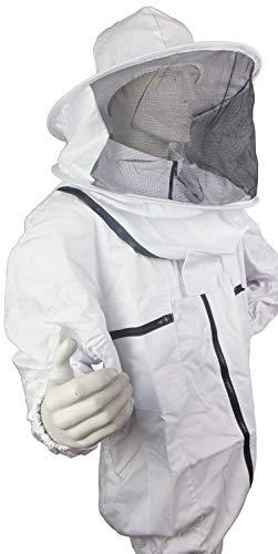 APIFORMES BasicBee Schutzjacke mit Achsel lüftung L -Baumwolle,Schtichschutz,Bienen,Imkerjacke, Imkerei, Stichschutz, Bienen