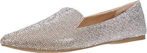 Steve Madden Feather-R Flat Rhinestone 8