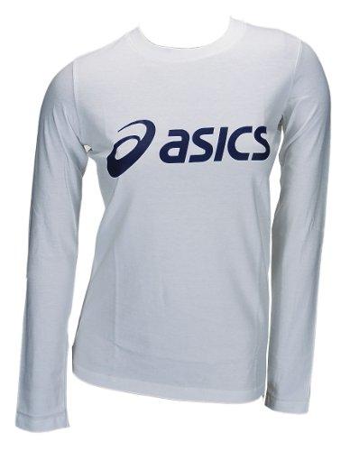 ASICS sinius Manga Larga Logo Camiseta de Mujer 0001Art. 672932Blanco Tamaño XS