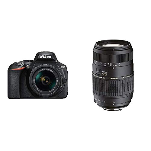Nikon D5600 Kit AF-P DX 18-55 VR Spiegelreflexkamera (8,1 cm (3,2 Zoll), 24,2 Megapixel) & Tamron AF017NII-700 AF 70-300mm 4-5,6 Di LD Macro 1:2 digitales Objektiv mit Built-In Motor für Nikon