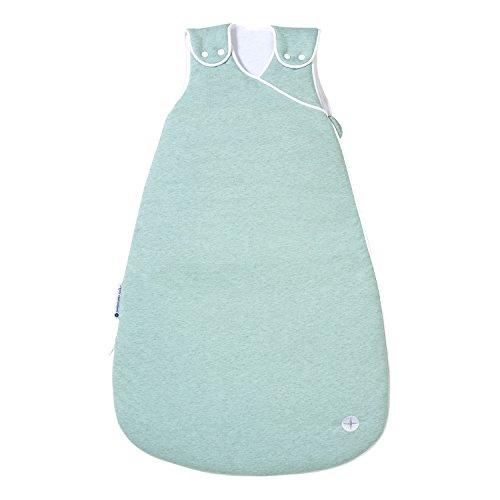 Schlafsack Baby Ganzjährig 70 cm | Trendy Mint Grün | Ganzjahresschlafsack Baby für 18-24° Raumtemperatur | Ideale Baby Erstausstattung Mint