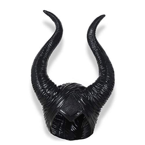 EXUVIATE Enge Masker Partij Slapen Demon Hoorn Masker Pruik Marin Fussen Heks Hoorn Hoed Halloween Helm Props