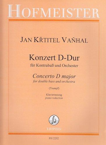 VANHAL J.B. - Concierto en Re Mayor para Contrabajo y Piano (Trumpf)