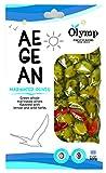 Griechische Oliven mariniert mit Zitrone und Wildkräutern von Olymp - Griechische Aegean Oliven - 500gr