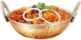 IndiaBigShop Indian Copper Kadhai Kitchenware/Utensil Serveware/Serving Bowl Handmade Kitchen Accessory