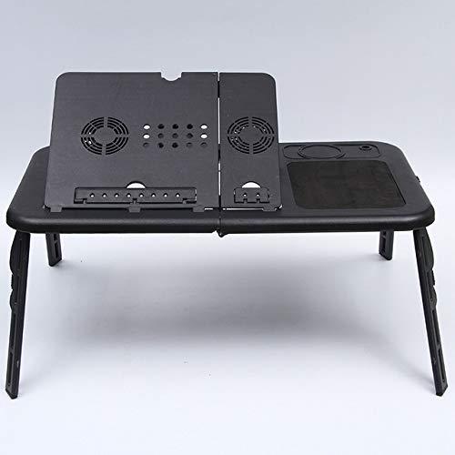 Yhtech Modern USB dual ajustable ventiladores de enfriamiento del escritorio del ordenador portátil plegable portátil de la cama del escritorio Soporte for portátil mesa de estudio con el sostenedor d