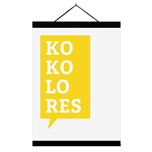"Goldmops - Poster | Plakat | Kunstdruck DIN A3 ""Kokolores mit oder ohne Posterleiste (Ohne Posterleiste)"