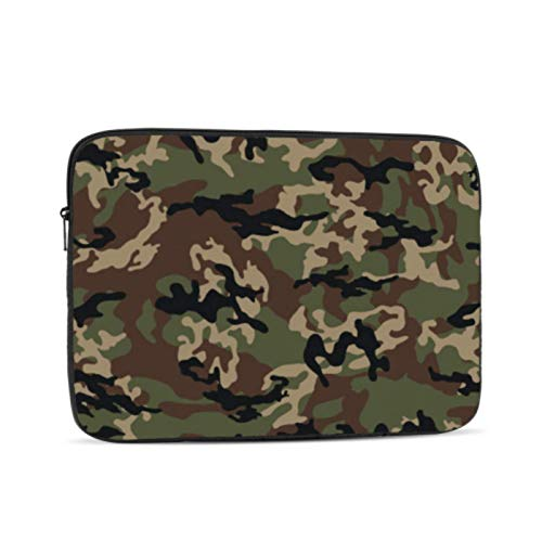 Mac Book Covers Fashionable Camouflage Vector Illustration Millatry Print MacBook Pro Hard Cover Multi-Color & Size Choices 10/12/13/15/17 Inch Computer Tablet Briefcase Carrying Bag