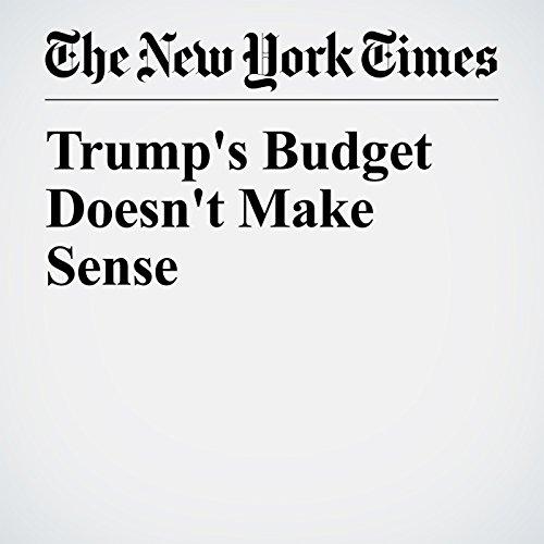 Trump's Budget Doesn't Make Sense copertina