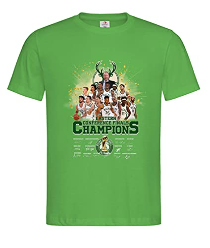 Camiseta para hombre Milwaukee Bucks – Eastern Conference Finals Champion NBA 2021, Kelly Green, XXXL