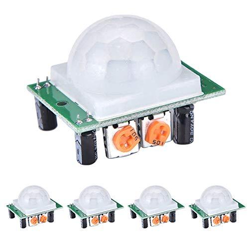 WayinTop 5 Stücke PIR Motion Sensor Infrarot Bewegungssensor HC-SR501 Detektor Modul für Arduino Raspberry Pi