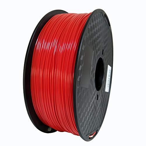 ABS Filament (Red) 1.75mm LONGSELL 3D Printer Filament ABS Compatible with Most 3D Printer 1KG Spool ABS 3D printing Material ABS (Red)