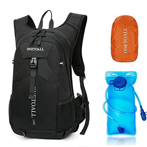 BBD Fahrradrucksack Wanderrucksack 18 Liter 20l Rucksack mit Regenschutz Kühlfach für Damen und Herren Wasserabweisend mit Helmschutz zum Radsport Uni Camping Alltag