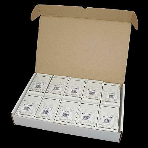 100 Kassenblöcke (Kassenblocks, Kassenblock) Neutral 10x15 cm