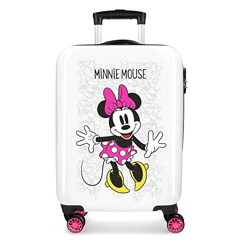 Disney Equipaje infantil Enjoy The Day, color Blanco/Rosa
