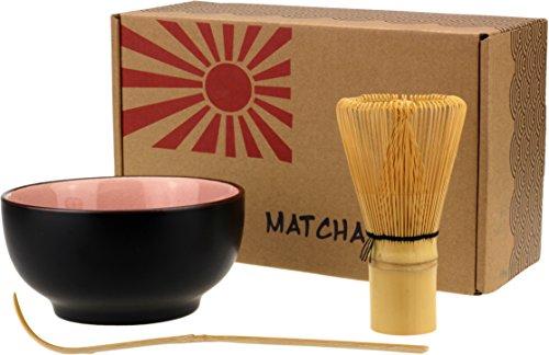 PureChimp Juego de t/é matcha para t/é matcha 50 g, batidor el/éctrico, cuchara matcha