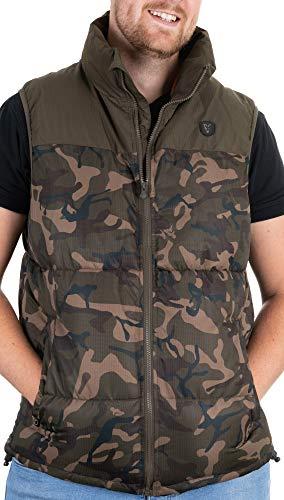 Fox Camo/Khaki RS Gilet Weste - Angelweste für Karpfenangler, Angelkleidung, Angeljacke, Anglerweste, Größe:XL