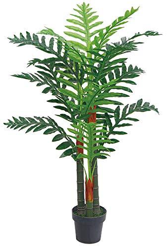 Decovego Palme Palmenbaum Arekapalme Kunstpflanze Kunstbaum Künstliche Pflanze 120cm