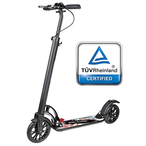 besrey Monopattino Big Wheel Kick Scooter - Nero