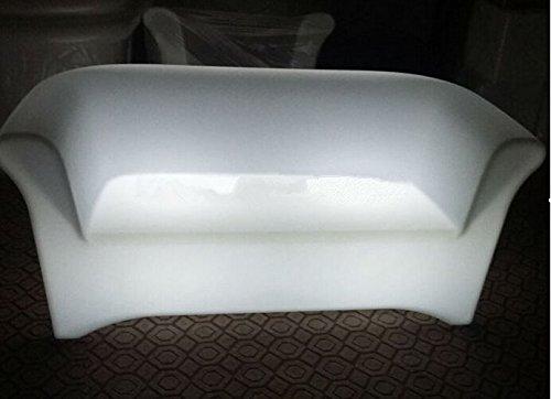 Gowe LED Émettant double Canapé Fauteuil chaise longue lumière à distance Controll Décoration de votre Salon, chambre, jardin, bar, terrasse, etc.