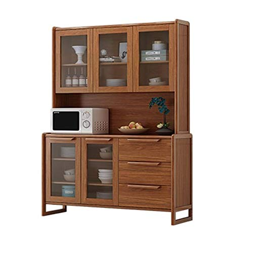 DXCSAA Sideboards Chinese Style Sideboard Solid Wood Frame Wine Cabinet Against The Wall Living Room Storage Tea Cabinet Restaurant Kitchen Simple Cupboard for Living Room