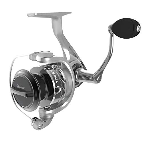 Quantum Throttle II Spinning Fishing Reel, 11 Bearings (10 + Clutch), Continuous Anti-Reverse with Front-Adjustable Drag, Ultra-Smooth and Durable Gears