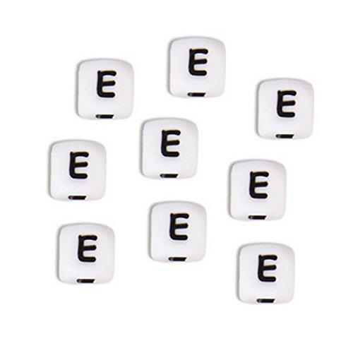 Perles Lettres Alphabet Silicone 12 mm, à l'unité