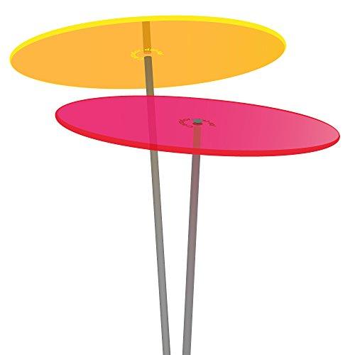 Cazador-del-sol ® Medio | Duo | 2 Stück Sonnenfänger-Scheiben gelb/rot 1,20 Meter hoch - das Original