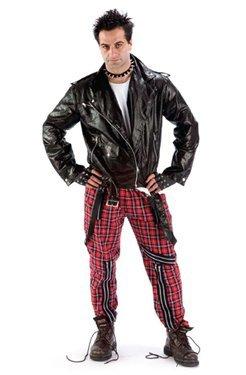 Mens Costume: Tartan Punk Trousers by Palmer Agencies Ltd