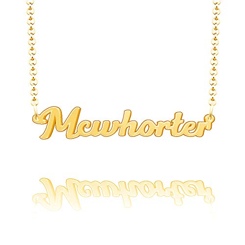Infinite Memories Mcwhorter Name Necklace Ghetto Men Link Real Endless Jewelry Aunt Jewelry Gothic Jewelry