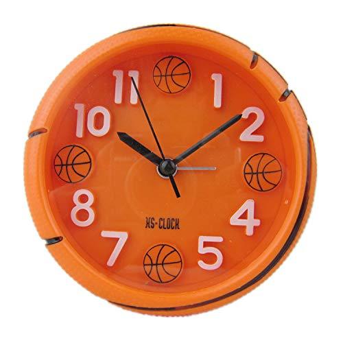 DDUUOO Baloncesto Fútbol Forma Deportes Moda Creativa Reloj Despertador 3D Estereoscópico Escala Digital Baloncesto Naranja
