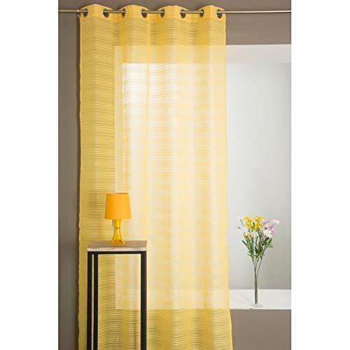 Visillo amarillo con rayas 140x260 cm