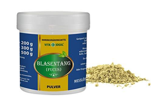 VITAIDEAL ® Blasentang PULVER 300g + Messlöffel (Fucus vesiculosus) von NEZ-Diskounter