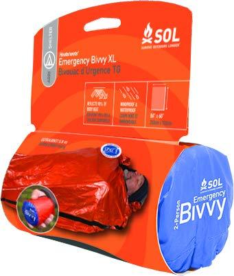 S.O.L. Survive Outdoors Longer S.O.L. 90% Reflective 2-Person XL Emergency Bivvy