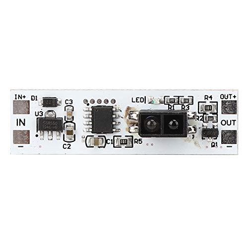 Módulo de interruptor de sensor, sensor de movimiento de alta sensibilidad Módulo de interruptor de barrido manual de 5-24 VCC con rango de detección de 10-80 mm para armario, armario, cocina, escaler