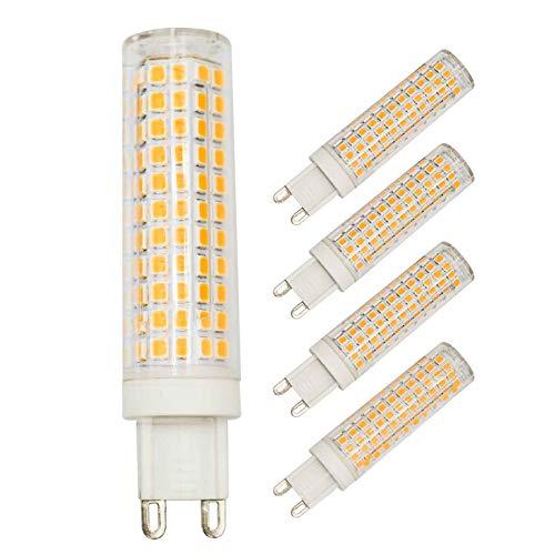 G9 LED Light Bulb 100W 75W Halogen Equivalent Warm White 3000K, 7W 950 Lumen AC 110V 120V Dimmable 360°Beam Angle G9 Bi-Pin Base LED Bulb Energy Saving for Home Lighting (Pack of 4)