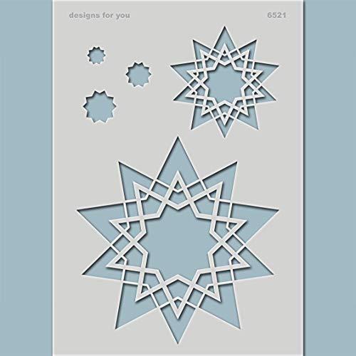 Schablone – Sterne, 6521, Din A5 oder A4, Karten basteln, Textilgestaltung, Weihnachten