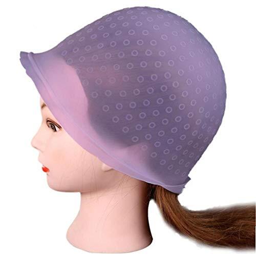 AMOYER Beliebte Berufssalon- Wiederverwendbare Haarfärbung Hervorhebungen Dye-Kappe Haken Frosting Rosa