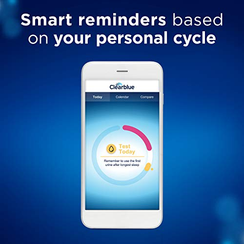 Clearblue-Ovulation-Test-Connected-Syncs-Results-to-Your-Phone-Tracks-Personal-Hormone-Information-Compares-Cycles-Set-Test-Reminders-1-Digital-Holder-and-25-Tests-Download-App-From-App-Store
