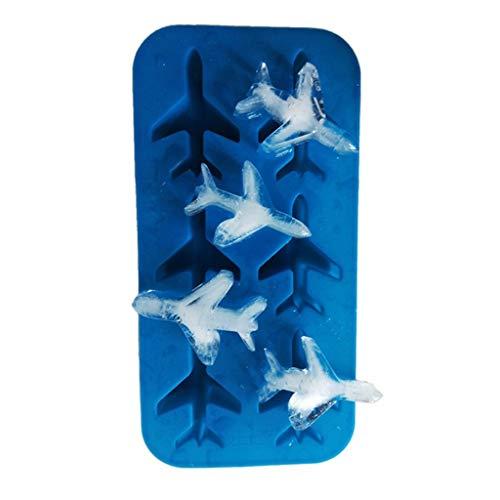 YWSZJ Große Eiswürfelablage Pudding Mold 3D Flugzeug Silikon 6-Hohlraum DIY Eismaschine Haushalts-Creme-Werkzeuge
