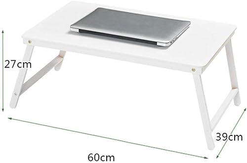 70% de descuento Mesa Plegable Mesa de bambú para para para computadora portátil Plegable U Pierna Mesa de Comedor portátil Cama con una Pequeña Mesa Interior para Interiores Cuatro Colors Disponibles (Color  blanco  comprar ahora