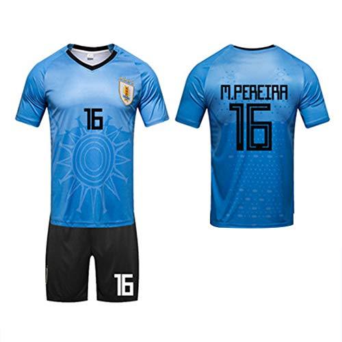 2018 World Cup 32 starke Uruguay Suarez Cavani Fußball passt Team Trikots (L-3XL)-12-L