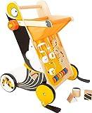 small foot 11737 Lauflernwagen Tukan aus Holz mit Bremssystem und vielseitigen Spielmöglichkeiten,...